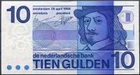 Nizozemí - (P 91) 10 Gulden (1968) - UNC