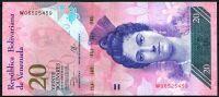 Venezuela (P 91f) - 20 bolivares (29.10.2013) - UNC