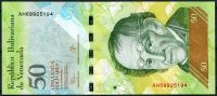 Venezuela (P 92 j) - 50 bolivares (23.6.2015) - UNC