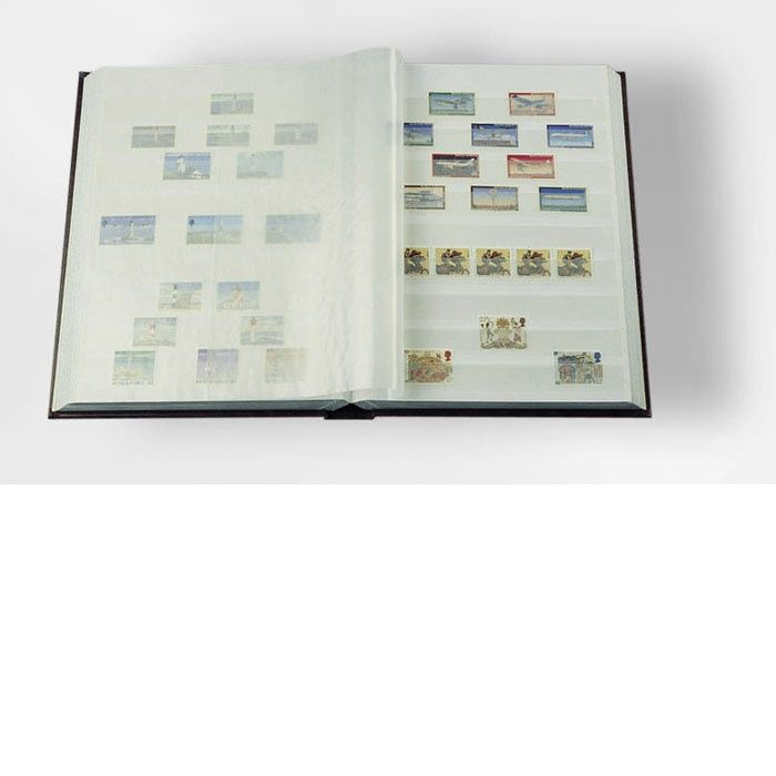 Zásobník - A4, 16 stran, bílé listy, pergamenové pásky Leuchtturm