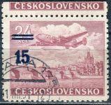 (1949) č. L 31 O - ČSSR - KH - Letecké zn. - přetisková provizoria