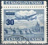 (1949) č. L 32 O - Československo - KH - Letecké zn. - přetisková provizoria - I typ