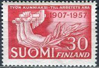 (1957) MiNr. 476 ** - Finsko - 50 let finského odborového hnutí