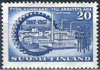 (1957) MiNr. 481 ** - Finsko - 50 let finského centrálního sdružení zaměstnavatelů