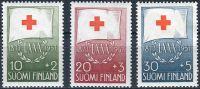 (1957) MiNr. 482 - 484 ** - Finsko - 80 let Červeného kříže
