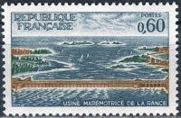 (1966) MiNr. 1566 ** - Francie - Stavba elektrárny Tidal v ústí řeky Rance