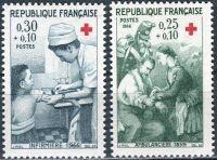 (1966) MiNr. 1568 - 1569 ** - Francie - Červený kříž