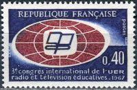(1967) MiNr. 1573 ** - Francie - Mezinárodní kongres UER pro vzdělávání v rozhlase a televizi