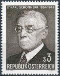 (1967) MiNr. 1234 ** - Rakousko - 100. výročí narození Karla Schönherr
