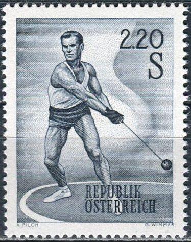(1967) MiNr. 1242 ** - Rakousko - Sport (III)