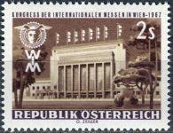 (1967) MiNr. 1247 ** - Rakousko - Kongres mezinárodních veletrhů, Vídeň