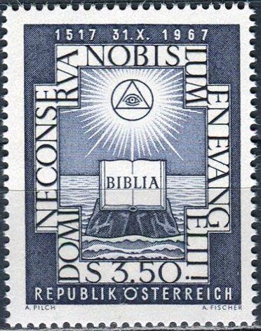(1967) MiNr. 1249 ** - Rakousko - 450. výročí reformace