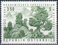 (1967) MiNr. 1251 ** - Rakousko - 100 let akademických studií v oblasti lesního hospodářství