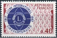 (1967) MiNr. 1601 ** - Francie - 50 let Lions International