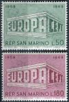 (1969) MiNr. 925 - 926 ** - San Marino - EUROPA