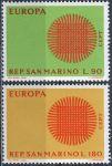 (1970) MiNr. 955 - 956 ** - San Marino - EUROPA