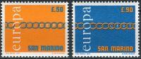 (1971) MiNr. 975 - 976 ** - San Marino - EUROPA
