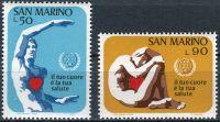 (1972) MiNr. 1013 - 1014 ** - San Marino - Světový měsíc srdce