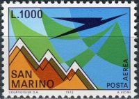 (1972) MiNr. 1016 ** - San Marino - Letecká známka