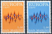 (1972) MiNr. 997 - 998 ** - San Marino - EUROPA