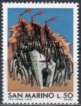 (1975) MiNr. 1087 ** - San Marino - 30. výročí poskytování útočiště 100.000 uprchlíků