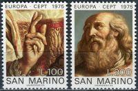 (1975) MiNr. 1088 - 1089 ** - San Marino - Europa: Obrazy