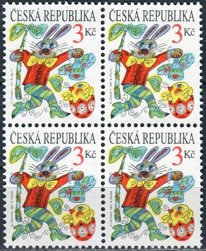 (1997) č. 138 ** - ČR - 4-bl - Velikonoce - vada 24,34/1