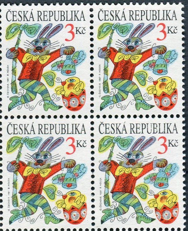 (1997) č. 138 ** - ČR - 4-bl - Velikonoce - vada 42/2