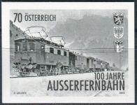 (2013) MiNr. 3086 ** - Rakousko - černotisk - 100 let Außerfernbahn