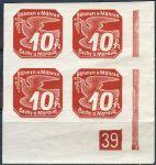 (1939) č. NV 5 ** - B. ü. M. -  Novinové známky - 4-bl - č. 39
