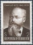 (1968) MiNr. 1258 ** - Rakousko - 125. výročí narození Camillo Sitte