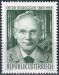 (1968) MiNr. 1267 ** - Rakousko - 50. výročí smrti Petra Roseggera