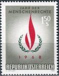 (1968) MiNr. 1272 ** - Rakousko - Mezinárodní rok lidských práv