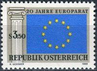 (1969) MiNr. 1292 ** - Rakousko - 20 let Rady Evropy