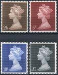 (1969) MiNr. 507 - 510 ** - Velká Británie - Královna Alžběta II