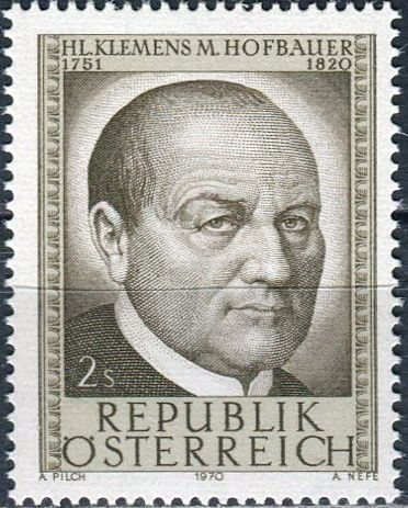 (1970) MiNr. 1321 ** - Rakousko - 150. výročí úmrtí sv. Clemens Maria Hofbauer