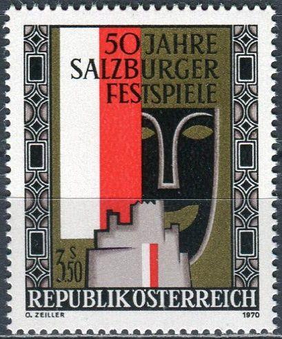 (1970) MiNr. 1335 ** - Rakousko - 50 let Salzburg Festival