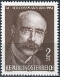 (1970) MiNr. 1342 ** - Rakousko - 100. narozeniny Alfreda Cossmanna