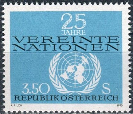 (1970) MiNr. 1347 ** - Rakousko - 25 let Organizace spojených národů (UNO)