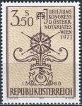 (1971) MiNr. 1359 ** - Rakousko - Výroční kongres rakouského notáře, Vídeň
