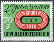 (1974) MiNr. 1468 ** - Rakousko - 25 let sportu