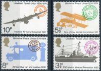 (1974) MiNr. 650 - 653 ** - Velká Británie - 100 let univerzální poštovní unie (UPU)
