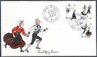 (1976) FDC - MiNr. 719 - 721 - Norsko - lidové tance