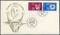 (1976) FDC - MiNr. 724 - 725 - Norsko - Europa: umění a řemesla