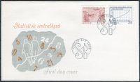 (1976) FDC - MiNr. 728 - 729 - Norsko - 100 let ústřední statistický úřad