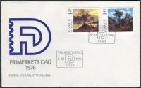 (1976) FDC - MiNr. 732 - 733 - Norsko - Obrazy