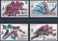 (1980) č. 2418 - 2421 ** - Československo - XXII. letní olympijské hry - Moskva 1980