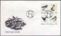 (1980) FDC - MiNr. 811 - 814 - Norsko - Poštovní známky: Ptáci