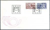 (1980) FDC - MiNr. 821 - 822 - Norsko - NORDEN: řemeslné zpracování