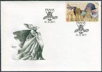 (2011) FDC 695 - W. A. Mozart - specimen